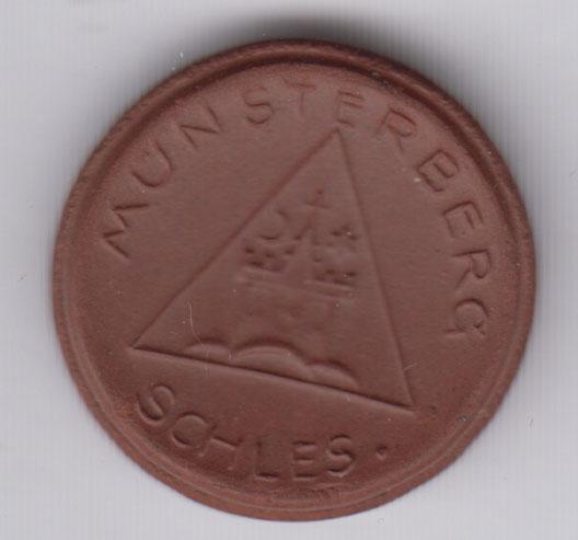 GERMANY 20 Pfennig Munsterberg, ceramic