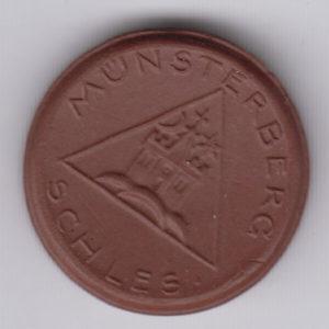 GERMANY 25 Pfennig Munsterberg, ceramic