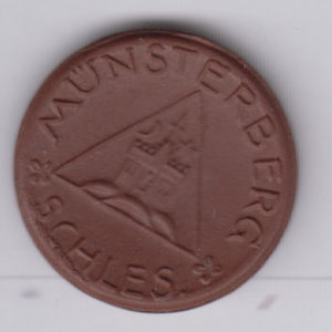 GERMANY 50 Pfennig Munsterberg, ceramic