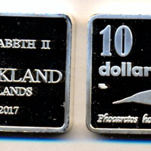 AUCKLAND ISLAND $10 2017 - Elephant seal, unusual coinage