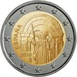 SPAIN 2 EUR 2018  bimeta Santiago de Compostela
