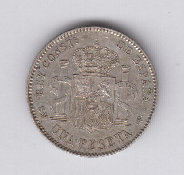 SPAIN 1 Peseta 1903(03) – KM721 – silver, XF+/SUP+