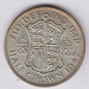 GREAT BRITAIN Half Crown 1942 – KM856 – silver, XF/SUP