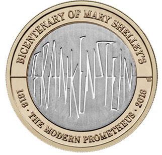 GREAT BRITAIN  £2 2018 bimetal -Mary Shellers