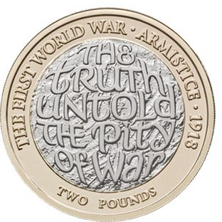GREAT BRITAIN £2 2018 bimetal - Armistice 1918