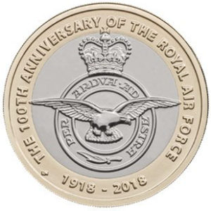 GREAT BRITAIN  £2 2018 bimetal - Royal Air Force