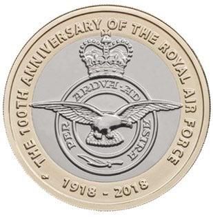 GREAT BRITAIN  £2 2018 bimetal - Royal Air Force