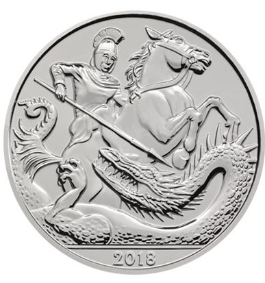 GREAT BRITAIN £5 2018 St Georges and the Dragon