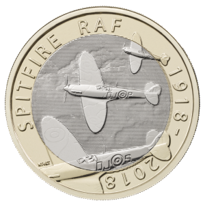 GREAT BRITAIN  £2 2018 bimetal - Sptifire plane