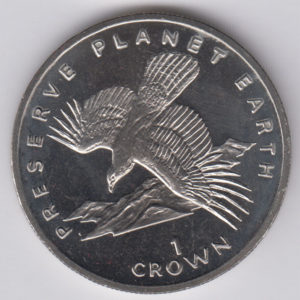 GIBRALTAR Crown 1994 - KM241 - Spanish Eagle