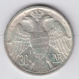 GREECE 30 Drachmai 1964 – KM87 – silver, UNC/SPL