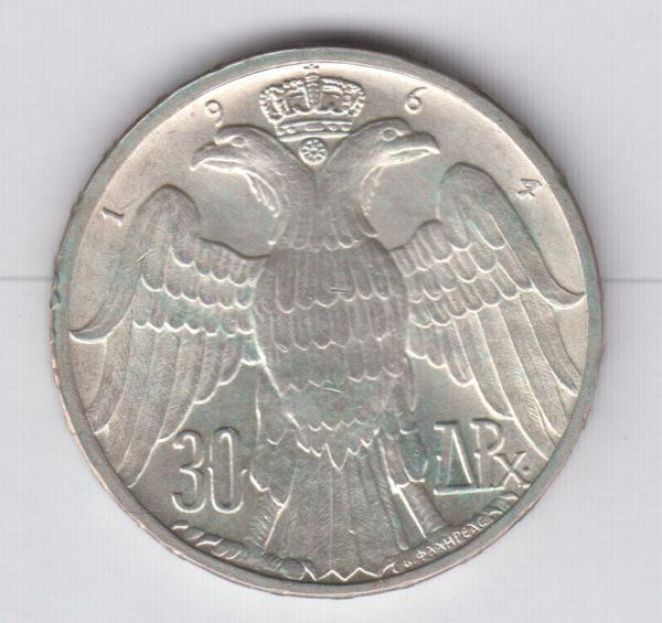 GREECE 30 Drachmai 1963 - KM86 - silver, UNC/SPL