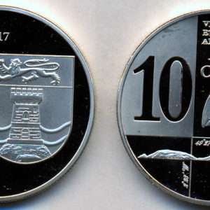 JETHOU ISLAND 10 Pence 2017, unusual coinage