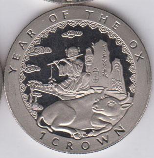 ISLE OF MAN Crown 1997 KM725 - Year of the ox