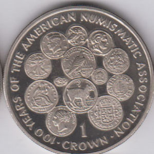ISLE OF MAN Crown 1991 KM291 - 100th Ann ANA