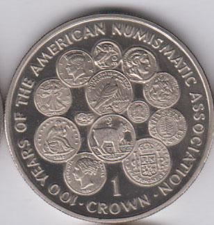 ISLE OF MAN Crown 1991 KM291 – 100th Ann ANA