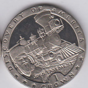 ISLE OF MAN Crown 1992 KM310 - Discovery of America, train