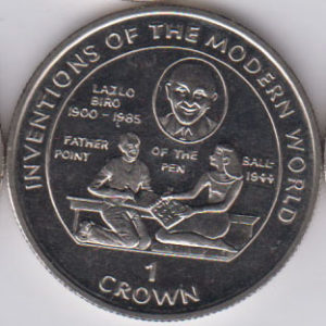 ISLE OF MAN Crown 1995 KM548 - Lazlo Biro