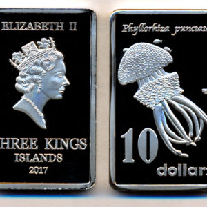 THREE KINGS ISLAND $10 2017, unusual coinage