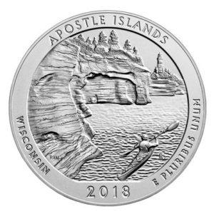 USA $¼ 2018P Apostle Island