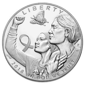USA $1 2018D Breast Cancer silver