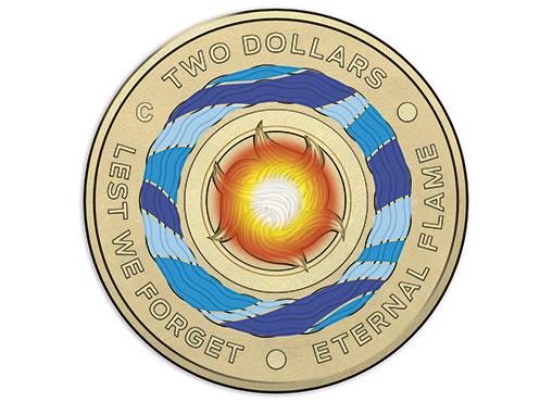 AUSTRALIA $2 2018 - Lest we forget, colorized