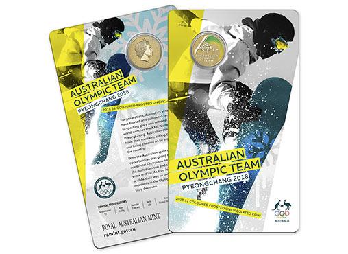 AUSTRALIA $1 2018 - Winter Olympics, colorized