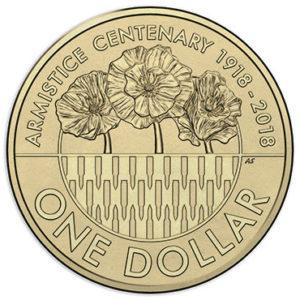 AUSTRALIA $1 2018 – Armistice 1918, brass