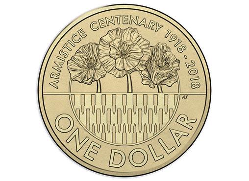 AUSTRALIA $1 2018 - Armistice 1918, brass