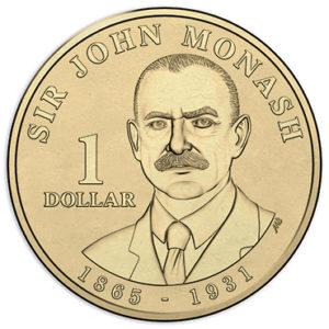 AUSTRALIA $1 2018 – John Monash, brass