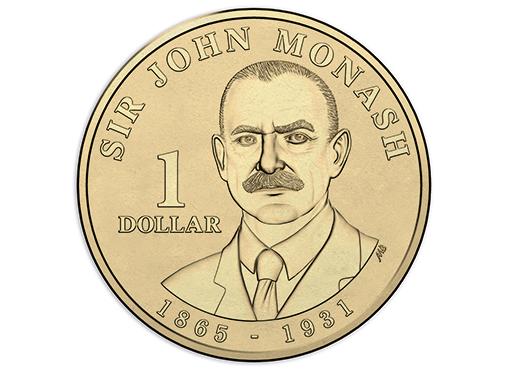 AUSTRALIA $1 2018 - John Monash, brass