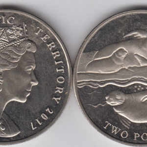 BRITISH ANTARCTIC £2 2017 – Crabeater Seal, Cu Ni Crown