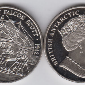 BRITISH ANTARCTIC £2 2018 - Robert Falcon Scott, Cu Ni Crown