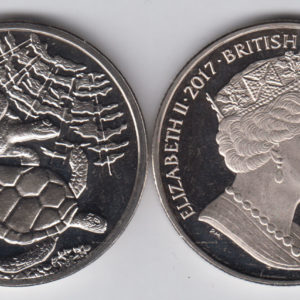 BRITISH INDIAN OCEAN £2 2017 - Green Turtles, Cu Ni Crown