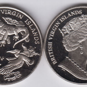 BRITISH VIRGIN ISLAND $1 2018 - Arquipelago, fauna, Cu Ni Crown