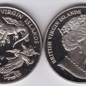 BRITISH VIRGIN ISLAND $1 2018 – Arquipelago, fauna, Cu Ni Crown