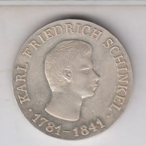 EAST GERMANY 10 Mark 1966 silver KM15 - Karl F. Schinkel
