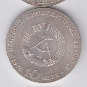 EAST GERMANY 20 Mark 1980 silver KM75 - 30th Ann DDR