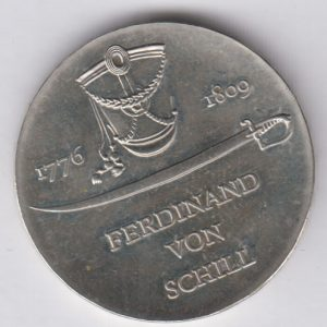 EAST GERMANY 10 Mark 1980 silver KM77 - Gerhard von Schamhorst