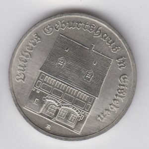 EAST GERMANY 5 Mark 1983 KM90 - Martin Luther birth