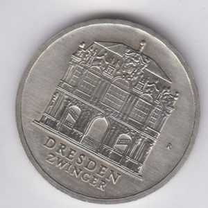 EAST GERMANY 5 Mark 1985 KM103 - Zwinger Dresden