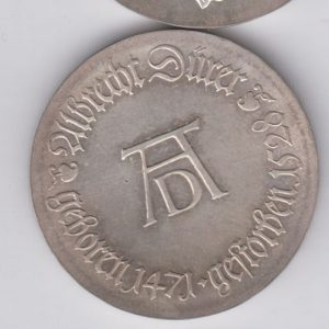 EAST GERMANY 10 Mark 1971 silver KM31 - Albrecht Durer