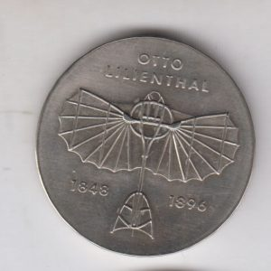 EAST GERMANY 5 Mark 1973 KM43 - Otto Lilienthal plane