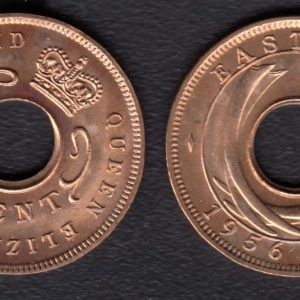 EAST AFRICA 1 Cent 1956KN KM35