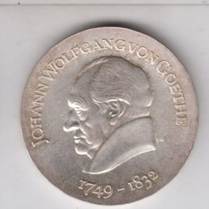 EAST GERMANY 20 Mark 1969 silver KM25 - Johann W. von Goethe
